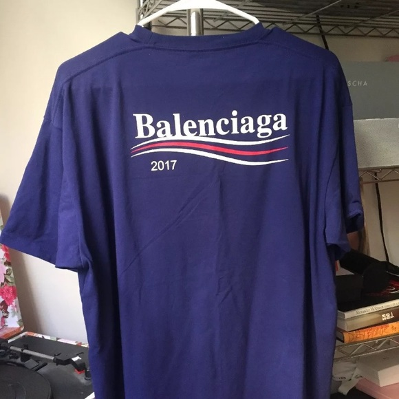 a468d9d68 Balenciaga Tops | 2017 Campaign Tshirt New Without Tags | Poshmark